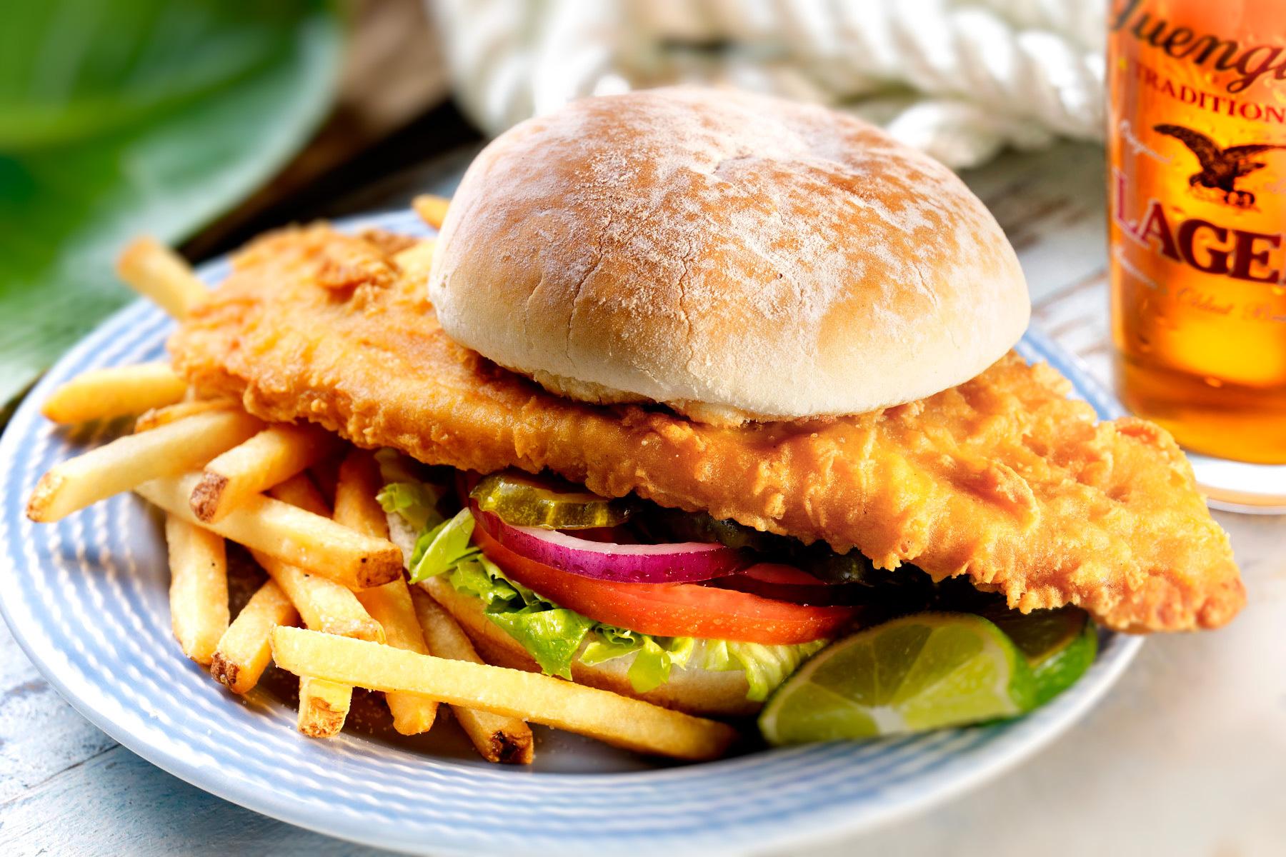Food menu race horse for Best fish sandwich near me